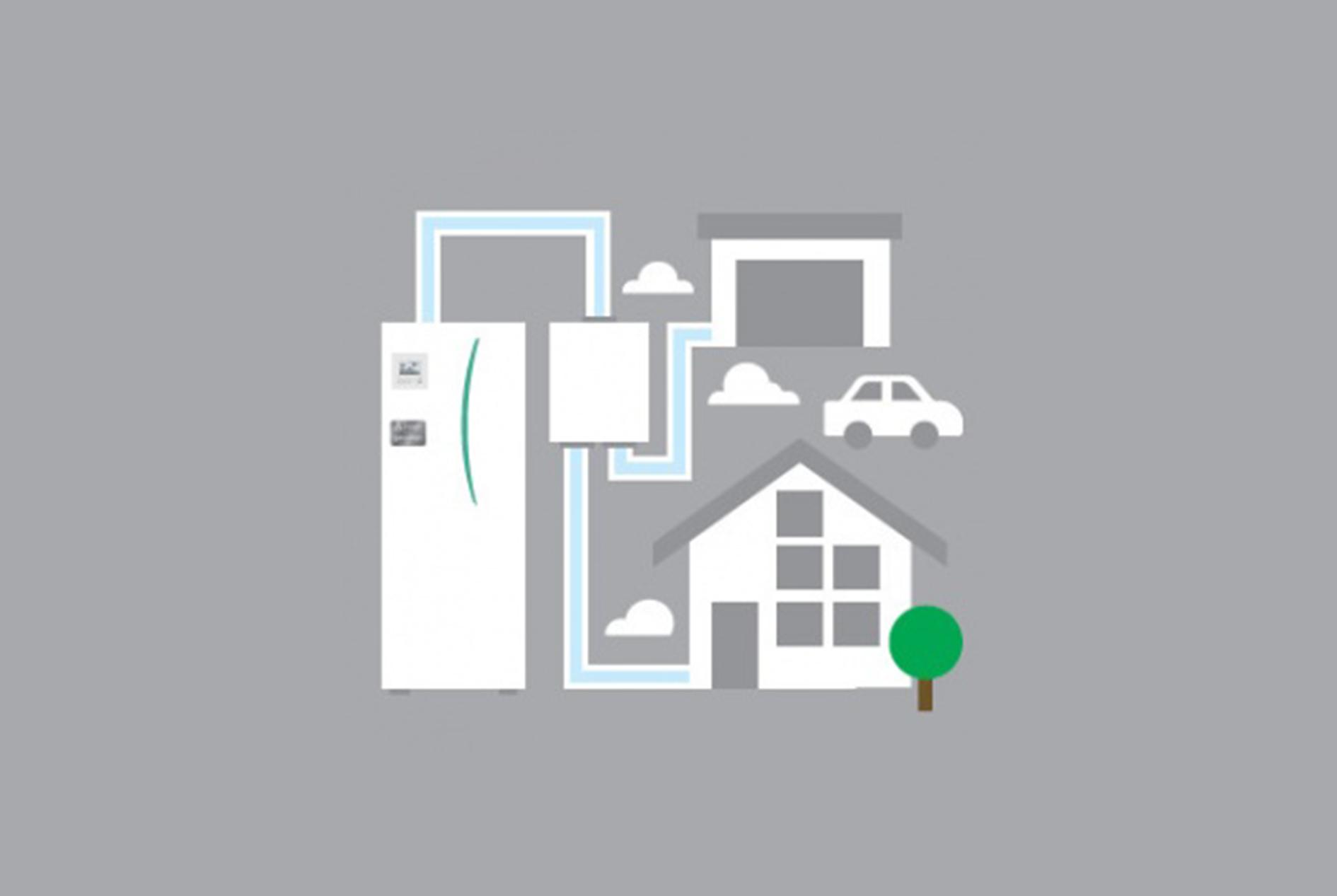 Dvi namo zonos skirtingai temperatūrai palaikyti